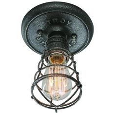 Check out the Troy Lighting C3810 Conduit 1 Light Flush Mount in Old Silver priced at $110.40 at Homeclick.com.
