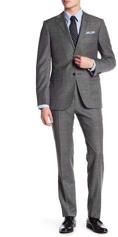 91b12851847 Ermenegildo Zegna Grey Plaid Two Button Notch Lapel Wool Suit
