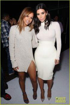 kim kardashian kanye west support keyana taylor music 01 Kim Kardashian and husband Kanye West keep it bright while attending Teyana Taylor's VII listening party held at Siren Studios on Monday (October 20) in Hollywood.…