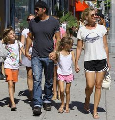 Singer Faith Hill and her husband Tim McGraw take their children Gracie, Maggie and Audrey out shopping on Melrose Ave in Beverly Hills, CA ...