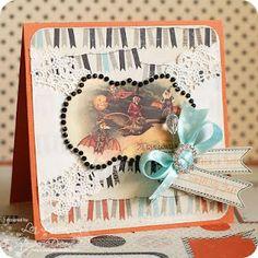 RCC20 Top Spools Halloween 1, Halloween Cards, Trick Or Treat, Doilies, Card Ideas, Create, Handmade, Sunshine, Aqua