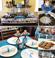 The Look for Less: Noah's Ark Baby Shower from Tonya at Soiree Event Design {with Nursery bedding & decor doubling as Party decor!}