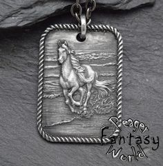 Horse~Engraved Pendant – PeagerFantasyWorld