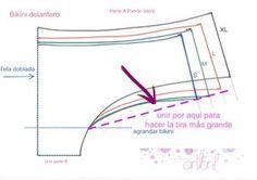 los tutoriales de artbril: Cosemos juntas Bikini- Patrones
