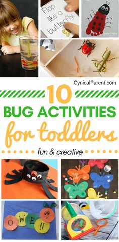 Does your little one love all things bug-related? We've found 10 fun and creative bug activities for toddlers that we think will be a big hit at your house! Toddler Snacks, Toddler Fun, Toddler Preschool, Toddler Crafts, Toddler Activities, Crafts For Kids, Toddler Learning, Creative Activities For Toddlers, Toddler Teacher