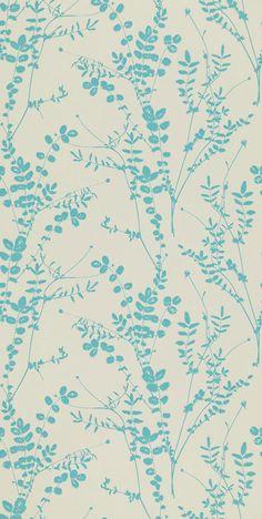 Salvia wallpaper – putty / aqua