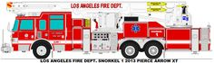 Los Angeles Fire Dept. Snorkel 1 by MisterPSYCHOPATH3001.deviantart.com on @DeviantArt