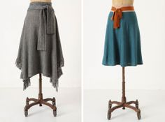 How To Make Upcycled Clothing | love love love these two sweater skirts from anthropologie