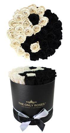 Flower Box Gift, Flower Boxes, Gift Flowers, Yin Yang, Nylon Flowers, Rose Hat, Forever Rose, Flower Boutique, Box Roses