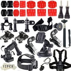 Soft Digits Basic Common Outdoor Sports Kit Accessories for All Gopro Hero4 Silver Black Hero 4 3+ 3 Sj4000 Sj5000… #coupons #discounts