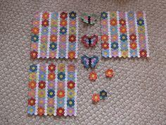 Tiny Butterfly Garden Hexagon Quilt | Flickr - Photo Sharing!