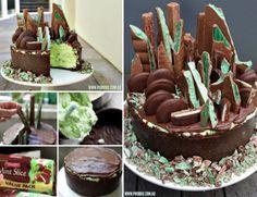Mint Chocolate No Bake Cheesecake - Phoodie's Emerald City Choc Mint Cheesecake