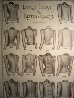 1898 REEFER JACKETS Victorian Fashions by VintagePaperGallery