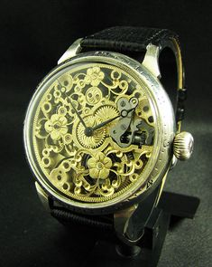 Omega Skeleton Antique 1932 Large Watch Flowers Deco | Best Antique Watches