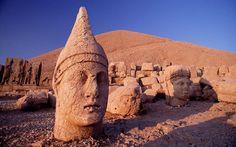This is the statue of Kral Antiochusun Dev Heykeli at Nemrut Dagi  Anatolia