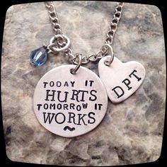 Physical Therapist Gift PT DPT PTA Necklace by ThatKindaGirl