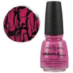 China Glaze Crackle Nail Polish: Broken Hearted Pink