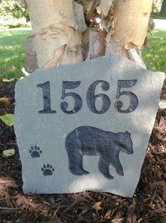 Custom Engraved Stone Address Marker
