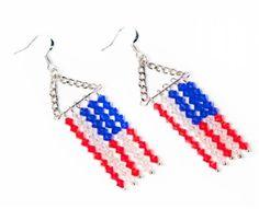 Fun 4th of July Beaded Earrings Tutorials - The Beading Gem's Journal