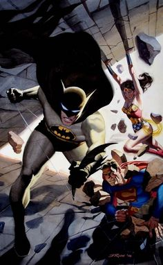 Batman, Superman & Wonder Woman by Steve Rude