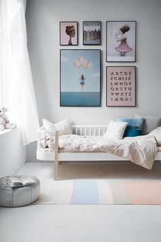 Sweet, pretty and pink kids room - so adorable.