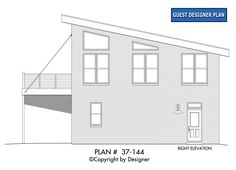Modern Carriage House Plan with Sun Deck - thumb - 05 Contemporary Style Homes, Contemporary House Plans, Modern House Plans, Contemporary Design, Design Food, Design Café, House Design, Magazine Design, Carriage House Plans