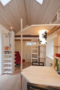 Tiny Studio Flat For Students How do you create a home with just 94 square foot of living space? Sweden's Lund housing commission AF Bostader designed this Tiny House Movement, Tiny Spaces, Small Apartments, Interior Flat, Interior Design, Simple Interior, Design Room, Sweden House, Small Apartment Design