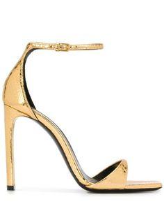 Yves Saint Laurent, Stiletto Heels, High Heels, Walk On, Snake Skin, Amber, Open Toe, Ankle Strap, Saints