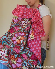 Ruffled Breastfeeding Apron Nursing Cover