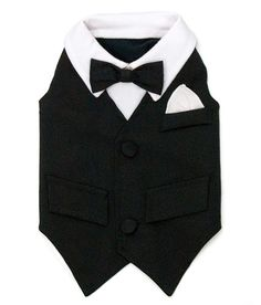 William tuxedo vest by Ruff Ruff Couture. The William Tuxedo vest is a brand new addition to our collection of dog tuxedos and formal wear for dogs. When your pooch needs to look his best, think of Ruff Ruff Couture. The Ruff Ruff Couture William Tux fe Dog Tuxedo, Tuxedo Vest, Black Tuxedo, Black Tie, Dog Wedding Attire, Wedding Tux, Wedding Ideas, Dream Wedding, Wedding Outfits