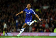 """@chelseafc .@didierdrogba celebrating his goal on his 350th @chelseafc appearance...#CFC"" #Legend"