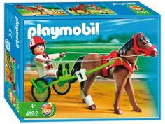 Playmobil Trotting Racer Pony Set by Playmobil. $21.23. 7.9 x 5.9 x 2 inches. All future equestrians will be sure to love the Trotting Racer from Playmobil. This horse is guaranteed to win the next big race! The Playmobil Trotting Racer comes with a great horse, cart, rider and all of the stuff you need to race today. The bright colors and durability of the Trotting Racer from Playmobil is sure to capture your child's creativity. Playmobil toys offer children everything they n...