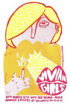 VIVIAN GIRLS POSTER - James Heimer