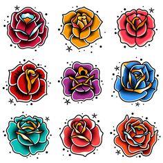 Rose Vine Tattoos, Rose Tattoos For Men, Flower Tattoos, Tattoo Roses, Tribal Rose Tattoos, Skull Tattoos, Foot Tattoos, Sleeve Tattoos, Traditional Tattoo Flowers