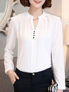 SHARE & Get it FREE | Women's Long Sleeve Buttoned White Chiffon ShirtFor Fashion Lovers only:80,000+ Items • New Arrivals Daily • Affordable Casual to Chic for Every Occasion Join Sammydress: Get YOUR $50 NOW!
