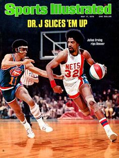 This Day In NBA History: 1976 - Julius Erving--Dr. J--graces the cover of Sports Illustrated, as the New York Nets defeat the Denver Nuggets to win the 1976 ABA Finals and become the league's last champion. Basketball Tricks, Basketball Workouts, Basketball Skills, Basketball Pictures, Basketball Legends, Sports Basketball, Basketball Players, Basketball Schedule, Duke Basketball