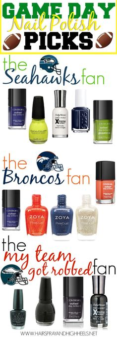 Nail Fashion: the teams I root for.