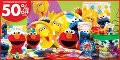 Sesame Street Party Supplies - Sesame Street Birthday - Party City