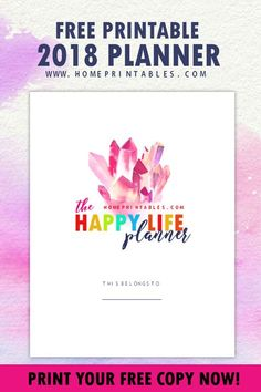 Download this FREE Printable 2018 Planner with 25 Amazing Organizers! #printables #freeplanner #2018planner #planner #2018
