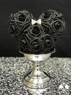 BLACK MICKEY Flower Ball With RHINESTONE BOW. Mickey Bridesmaids Bouquet. Mickey Flower Girl Bouquet. Mickey Centerpiece. MINNIE Mouse Centerpiece. Mickey Birthday Party. Minnie Birthday Party. Mickey Wedding. Minnie Mouse Wedding. Minnie Mouse Flower Girl Bouquet. Mickey Baby Shower. Minnie Bridal