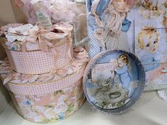 Little Darlings altered boxes #graphic45