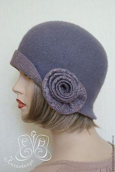 """Шляпка """"SODADE"""" - шляпки валяные,шляпки из шерсти,серый,однотонный,екатерина власова ♡"""
