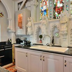 """teal-deer: """" newsroom-news-uk-yahoopartner: """" House-hunters with a taste for all things ghoulish have a rare chance to make their home in a Gothic church, which has its very own graveyard in the..."""