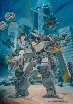 Metal Skin Panic: MADOX 01 - an idiot accidentally commanders an experimental military vehicle, wreaks havoc, kills a psychotic tank commander, and ends up getting the girl. For everyone in the streets, it's apparently a normal Saturday.