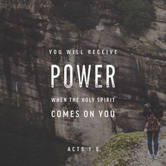 bible verses on the power of the Holy Spirit Bible Verses Quotes, Bible Scriptures, Godly Quotes, Daily Scripture, Acts 1 8, Acts Of The Apostles, Holy Spirit Come, Namaste, Saint Esprit