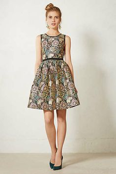 Anthropologie - Starshine Brocade Dress