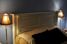 headboard from an old upright piano.... entire page FULL of wonderful ideas for unplayed pianos