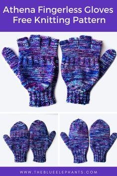 fingerless gloves, Athena: Free Knitting Pattern for Fingerless Gloves, The Blue Elephants, The Blue Elephants Loom Knitting, Free Knitting, Knitting Patterns Free, Knitting Tutorials, Hat Patterns, Stitch Patterns, Knitting Projects, Sewing Patterns, Knitted Mittens Pattern