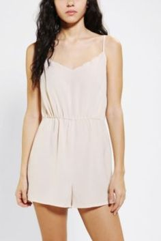 Pins And Needles Scallop-Edge Romper