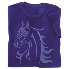 Wild Spirit Arabian Tee Purple - Horse Themed Gifts, Clothing, Jewelry and Accessories all for Horse Lovers | Back In The Saddle